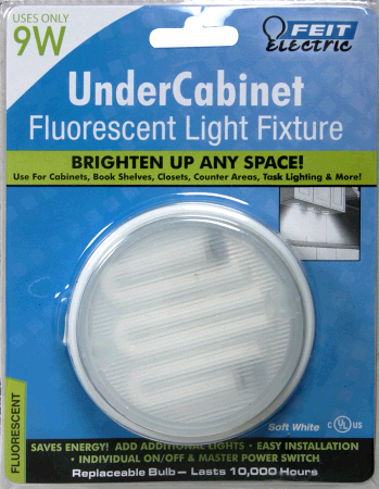 Feit Electric 9 Watt Fluorescent Under Cabinet Fixture with On/Off Switch