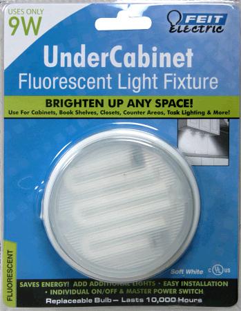 Feit Electric 9 Watt Fluorescent Under Cabinet Fixture with On/Off ...